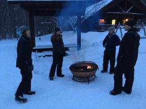Snowshoe Valley Spur includes great outdoor activities including a bonfire for roasting marshmallows!