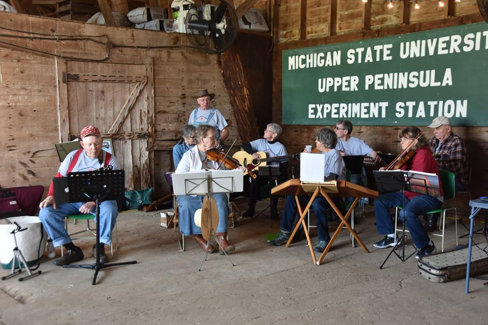 Local musicians provide traditional music for the All in the Barn event.